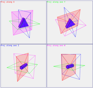 TAK4D - 4D maze - 3Dprojections of 4Dobjects