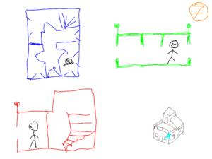 TAK4D - 4D maze - 3D house 3 views from point 1
