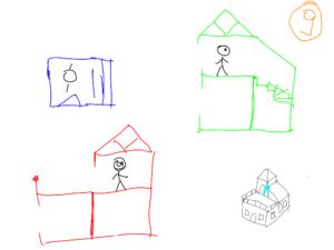 TAK4D - 4D maze - 3D house 3 views from point 3