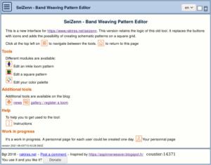 Seizenn band weaving Editor