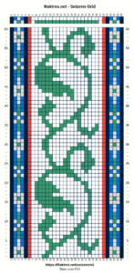 band weaving pattern - grid view