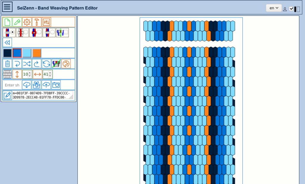 band weaving pattern editor - inkle tool