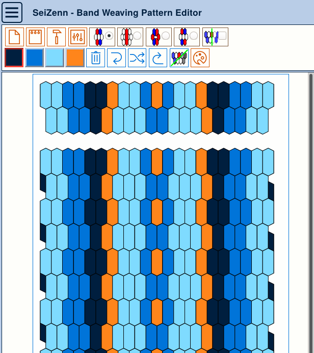 Tissage band weaving seizenn pattern editor